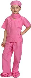 Dress Up America Pink Children Doctor Scrubs Toddler Costs Kids Doctor Scrubs وانمود لباس بازی