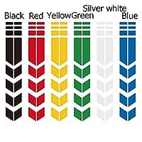 DIY バイクのフェンダーマッドガードステッカーデカールのためのオートバイの反射デカールステッカーリムストライプホイールテープステッカー (Color Name : White)