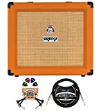 Orange Amps Crush 35RT 35W 1x10 Guitar Combo Amplifier (Orange) Bundle with Blucoil 10-FT Straight Instrument Cable (1/4in), 2-Pack of Pedal Patch Cables, and 4-Pack of Celluloid Guitar Picks