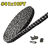 41 Roller Chain 10 Feet with 1 Connecting Link