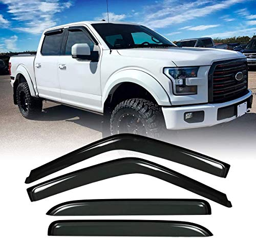Gevog 4-Piece Side Window Deflector Original Window Visors for 2015-2020 Ford...