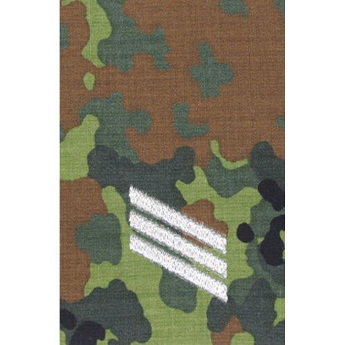 1 Paar Bundeswehr Rangabzeichen Flecktarn/Silber Rangschlaufe Rangschlaufen Abzeichen Schlaufe verschiedene Dienstgrade (Hauptgefreiter)