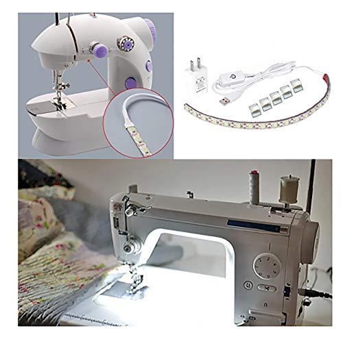 YICBOR Sewing Machine LED Light Strip Light Kit 11.8inch DC5V Flexible USB Sewing Light 30cm Industrial Machine Working LED Lights