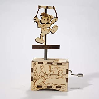 Pinocchio music box - When you wish upon a star - Personalized gift - Hand cranked mechanism
