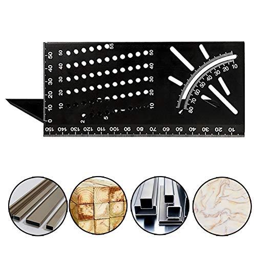 3D Mitre Winkelmess Vorlage Werkzeug, 45 90-Grad-Platz zur Holzwinkel Lineal Multifunktionale Anreisslehre Werkzeug