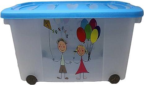 Caja para juguetes (Multi Box) con ruedas, niño, Kids-Blau: Amazon.es: Deportes y aire libre