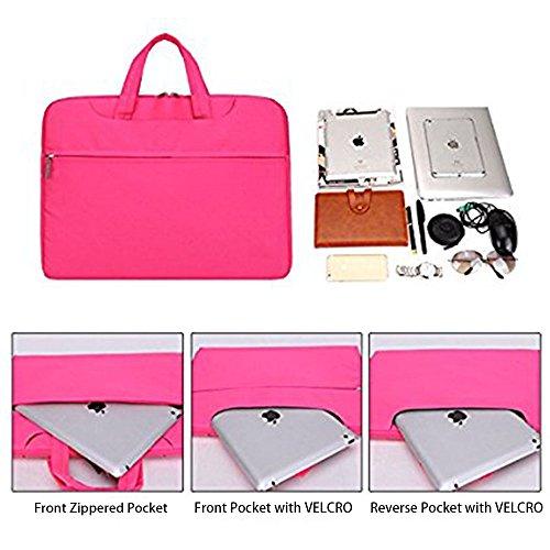 CROMI Simplicity Laptop-Umhängetasche, schlank, leicht, Aktentasche, Business-Hülle, Tragetasche, Nylon, wasserdicht, Notebook-Schultertasche, Messenger-Tasche (Rosa, 13,3 Zoll)