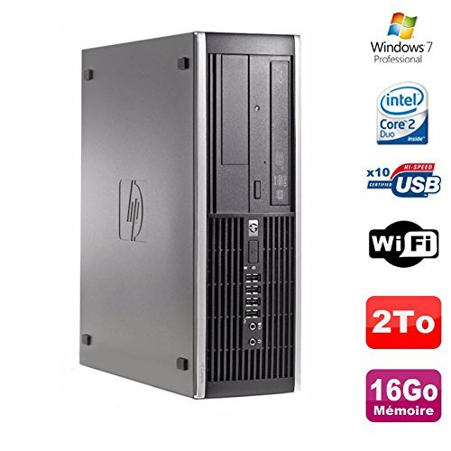 Hp PC Compaq 8000 Elite SFF Core 2 Duo E8400 3Ghz 16 GB DDR3 2To Win 7 Profi