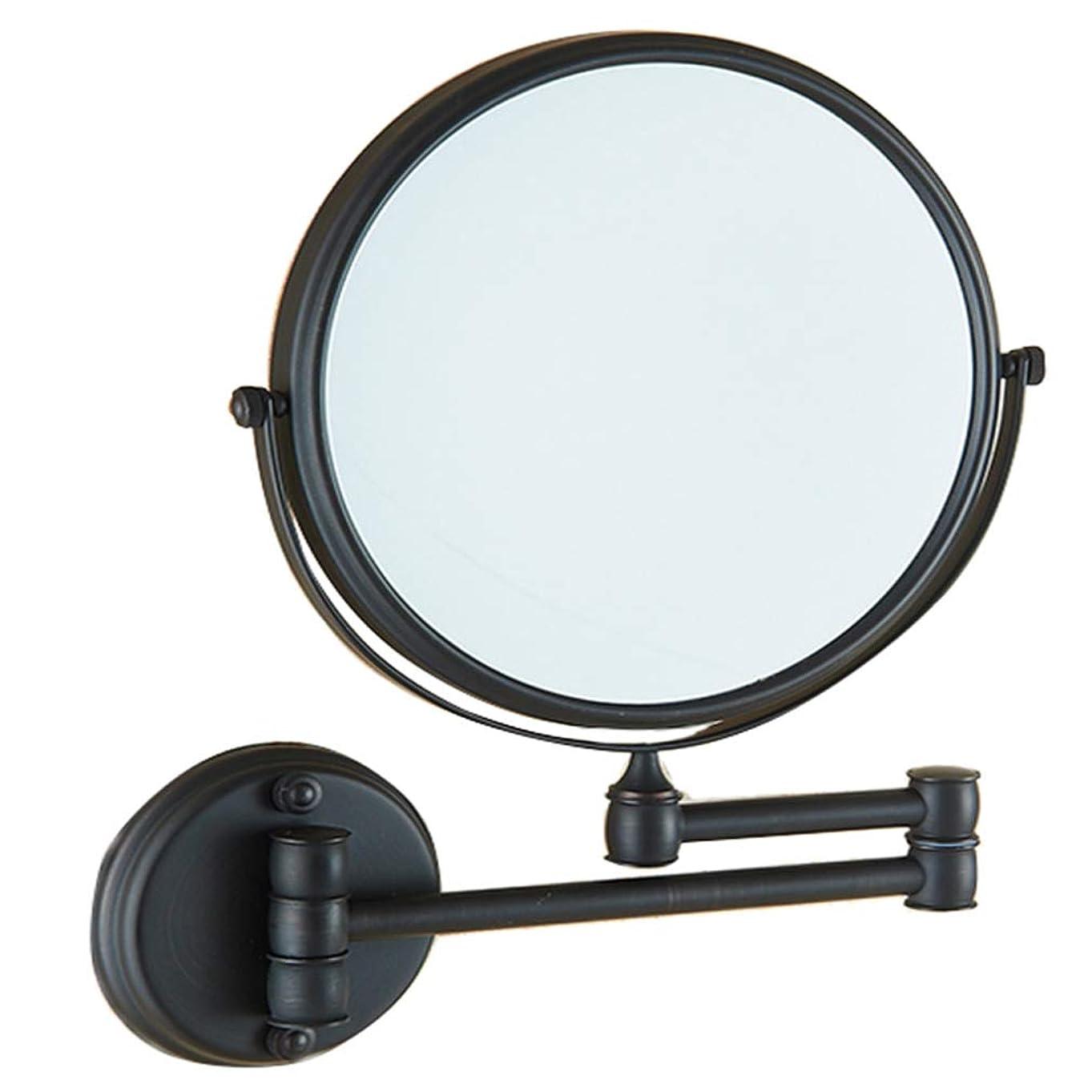 パッチパッチホラーHUYYA 化粧鏡、両面 壁掛け式 化粧ミラー 3倍拡大バスルームミラー360 °回転 伸縮可能折り けメイクミラー,