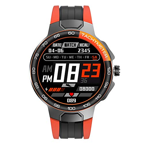 Wan&ya Reloj Deportivo Inteligente Reloj de Pulsera multifunción para Exteriores Reloj Digital Resistente al Agua con Monitor de frecuencia cardíaca y sueño Relojes GPS para Hombres y Mujeres,Naranja