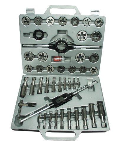 Mannesmann - M53245 - Juego de herramientas para roscar de 45 piezas con maletín de plástico
