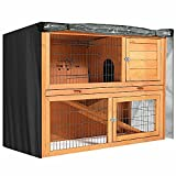 BUNNY BUSINESS Universal Double Hutch Cover, Moisture Resistant Rabbit Hutch Cover 210D