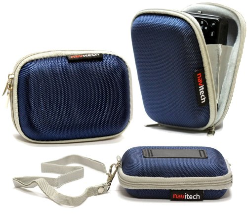 Navitech London Sony アクションカメラ FDR-X1000V/ HDR-AS200V/GoPro Hero3+ / GoPro Hero 4/ TMIジャパンZERO-AMC1108 用ハードキャリーケース (青)