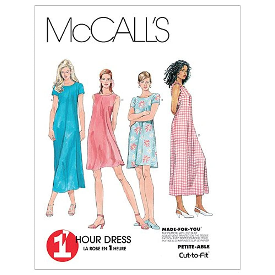 McCall's Patterns M6102 Misses' Dress in 2 Lengths, Size B (8-10-12)