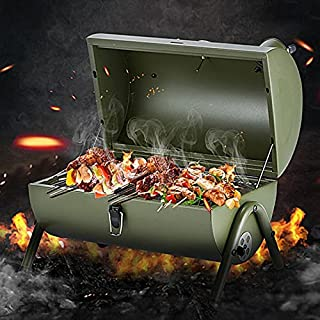 SHKYP Portable Outdoor BBQ Grill Patio Camping Picnic Barbecue Stove Suitable for 3-5 People (Color : Red)