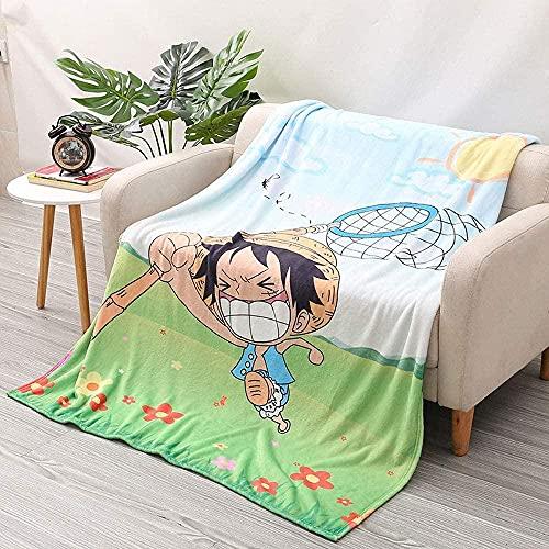 Anime Cartoon Flannel Cover Condizionatore Aria condizionata Bambini Aria condizionata Scuola materna Scheda d'asilo Strato Studente Stampa Animazione 3D Stampa Super Soft Peluche Cover-80 * 120 cm.