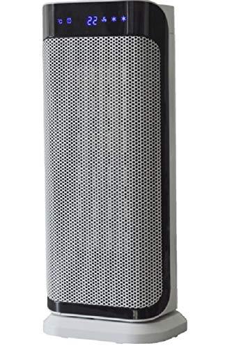 SHE Keramik Heizlüfter mit Fernbedienung (2000 Watt) - Heizkörper Ventilator als mobile Heizung für Badezimmer, Elektro Heizlüfter mit Timer, wärmen & kühlen möglich