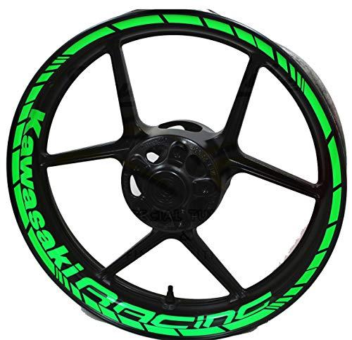 Adesivi per ruote moto Kawasaki Racing 17 pollici
