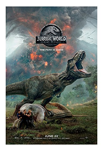 Jurassic World Fallen Kingdom Movie Poster - Size 24' X 36' - This is a Certified Poster Office Print with Holographic Sequential Numbering for Authenticity.