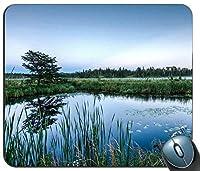 朝のマウスパッド滑り止めと耐久性滑り防止防傷に長持ちするの湿地、ゲーミング長方形マウスパッド滑り止めと耐久性滑り防止防傷に長持ちする