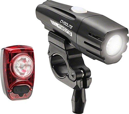 Cygolite Metro 700 Lumen Headlight and Hotshot 100 Lumen Tail Light USB Rechargeable Bike Light Combo Set, Black/Red