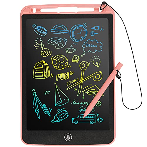 SOOOO Drawing Board Doodle Pad for 3-10 Year Old Kids, 10 inch Colorful LCD Writing Tablet, Erasable Sketch Pad for Toddler Girls/Boys Toys Learning Educational Toy for 4 5 6 7 Years Old Kids(Pink)