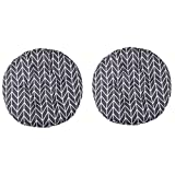 DadaA 2 x runde gepolsterte Sitzkissen, Stuhlkissen für drinnen und draußen, für Garten und Terrasse, Küche und Bürostühle a