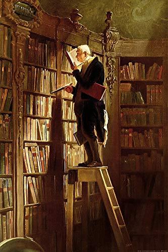 1art1 Carl Spitzweg - Der Bücherwurm, 1850 XXL Poster 120 x 80 cm