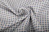 Baumwollstoff, Minimal Print, kleine Prilblumen auf Blau -