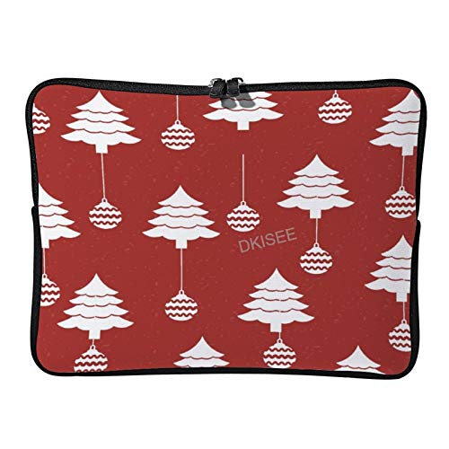 Lplpol Merry Christmas Laptop Sleeve for Women Men, Compatible with 17 Inch MacBook Air/MacBook Pro Notebook Two-way Zippers Laptop Carrying Bag Case Cover