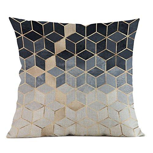 Harpily Geometrischen Druck Kissenbezüge Spannbettlaken Hause Sofakissenbezug Günstige Kissen Moderne Kissenhüllen Polsterung Weich Baumwolle 45x45cm