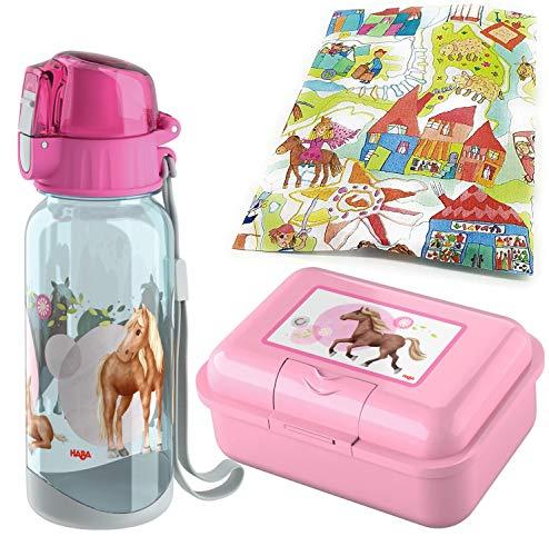 Kilala Haba - Fiambrera y botella de agua con diseño de caballo