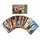 Mrjg 55 Hojas Tarot Card Angels and Ancesters Oracle Cards Board Juego Ocio y Entretenimiento Puzzle Card Board Juego para Fiesta