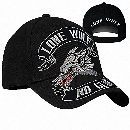 Daywalker Bikestuff Lone Wolf No Club Free Biker Cap Stick Patch MC Abzeichen Top Rocker