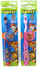 PAW Patrol Toothbrush for Kids 3+ yrs. Soft Suction Cup Pack of 2
