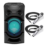 Sony V21 High Power Audio System with Bluetooth with Pyle Pro Professional Dynamic Handheld Microphones Bundle (3 Items)