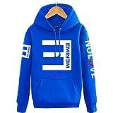 【ドリーム ショップ】Eminem演出服 エミネム/RAP反Eパーカー フード付き/カップルお揃いジャージ/パーカー 応援服 ヒップホップ /4色入り/秋冬 防寒 男女兼用ペアルック トレーナー HOODY (XLサイズ, ブルー) [並行輸入品]