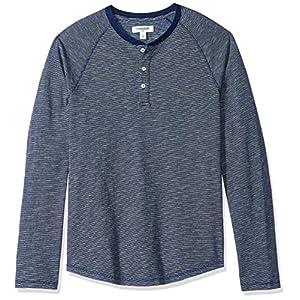 Men's Standard Long-Sleeve Indigo Henley