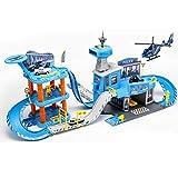Izzya Estacionamiento. de Coches de Ferrocarril Vehículo de Juguete Coche de Carreras Juguetes Modelo de Riel de Juguetes para Niños