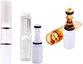 TXIN 30 Pieces Reusable Cigarette Filter Tips Tubes Tar Tobacco Filters, with 1 Random Color Cigarette Ring Holder, Indivi...