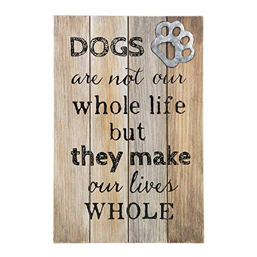 Ganz Dogs are Not Our Whole Life, But They Make Our Lives Whole Wall Plaque