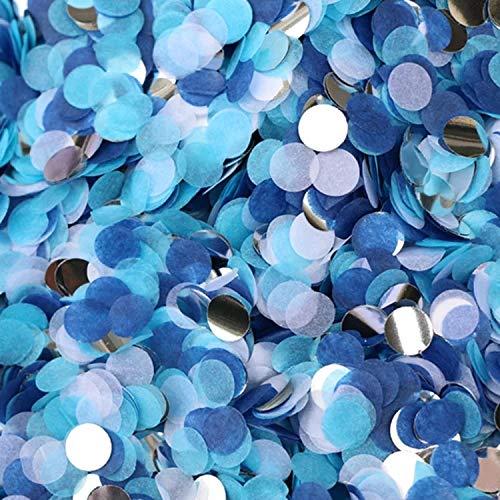 Rmeet Coriandoli Carta,50 Grammi Tessuto Tondo Coriandoli Rotonda Multicolor Confetti da Tavolo per Matrimoni Compleanno Festa Compleanno Blu 1 Pollice
