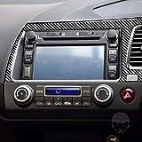 Para Civic 8ª generación 2006-2011 conductor lado izquierdo ventilación panel de navegación panel envolvente pegatinas interiores efecto 3D mate fibra de carbono Accesorios (set RHD)