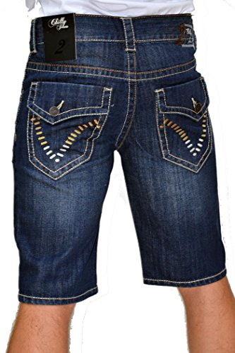 2Chilly Jeans - Bermuda Chino Parasailor David Capri Jeans, Camp Wow M.O.D Finale Sale Blu scuro 38W