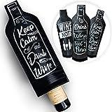 Bolsas protectoras reutilizables para botellas de vino (paquete de 4) – a prueba de fugas para maleta – Transporte botellas de licor en su equipaje