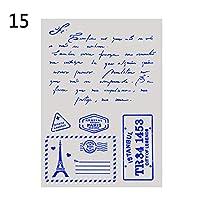 7Styles紙カードレターアルファベットアルバム装飾DIYクラフトスタンプ階層化ステンシルエンボステンプレートスクラップブッキング(15)