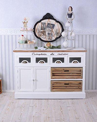 LANDHAUSSTIL Sideboard ANRICHTE Shabby Weiss Vintage Palazzo Exclusiv