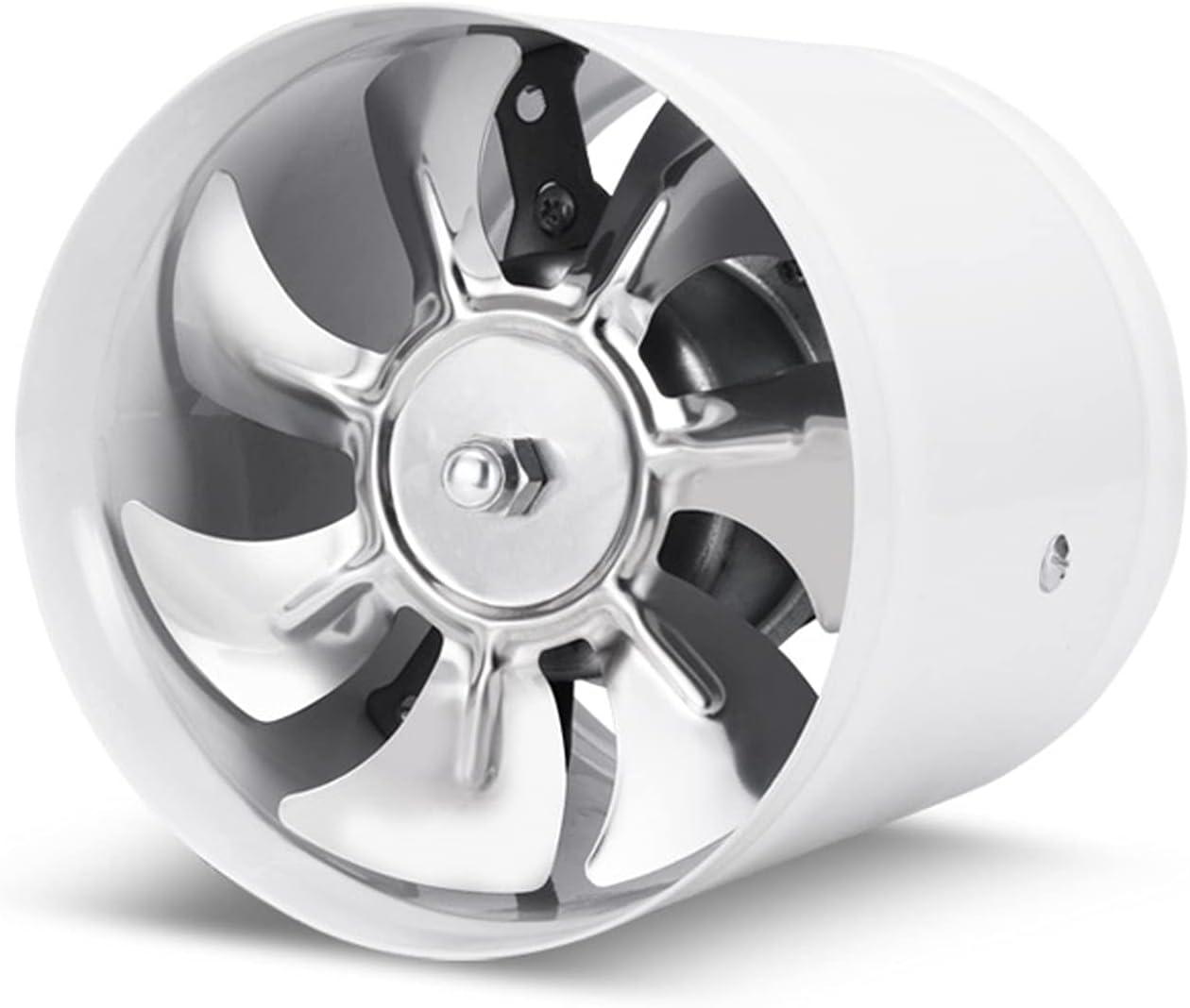 Ventilador de conducto en línea de 8 pulgadas, 50 0CFM, Cocina Potente humo de aceite Ventilador Ventilador de ventilación Tipo de ventana Fan de escape con 7 cuchillas Ventilador de escape de baño