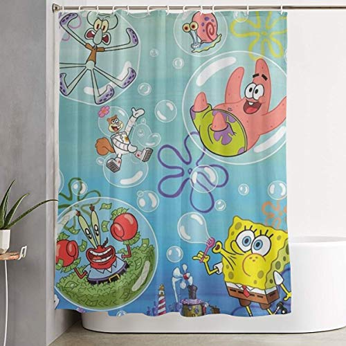 Duwamesva Shower Curtain Spongebob Squarepants Art Print,...