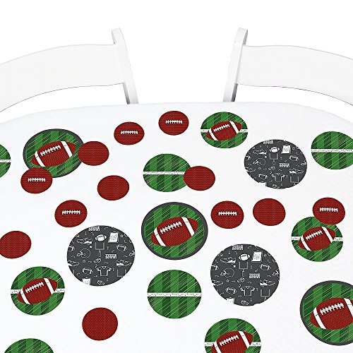 Big Dot of Happiness End Zone - Football - Baby Shower or Birthday Party Giant Circle Confetti - Party Decorations - Large Confetti 27 Count